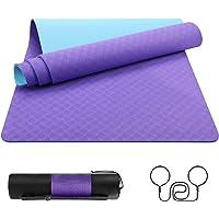 EgoIggo Tappetino Yoga Antiscivolo TPE, Tappetino Palestra per Fitness Pilates e Ginnastica, Yoga Mat 100% Ecologico con…