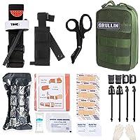 GRULLIN MOLLE IFAK Trauma Kit, taktisches Erste Hilfe Kit, Notfall EMT für die Kajak Camp Jagd auf Reisen mit dem Auto…