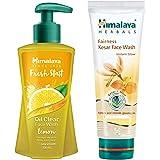 Himalaya Fresh Start Oil Clear Face Wash, Lemon, 200ml and Himalaya Natural Glow Kesar Face Wash, 150ml