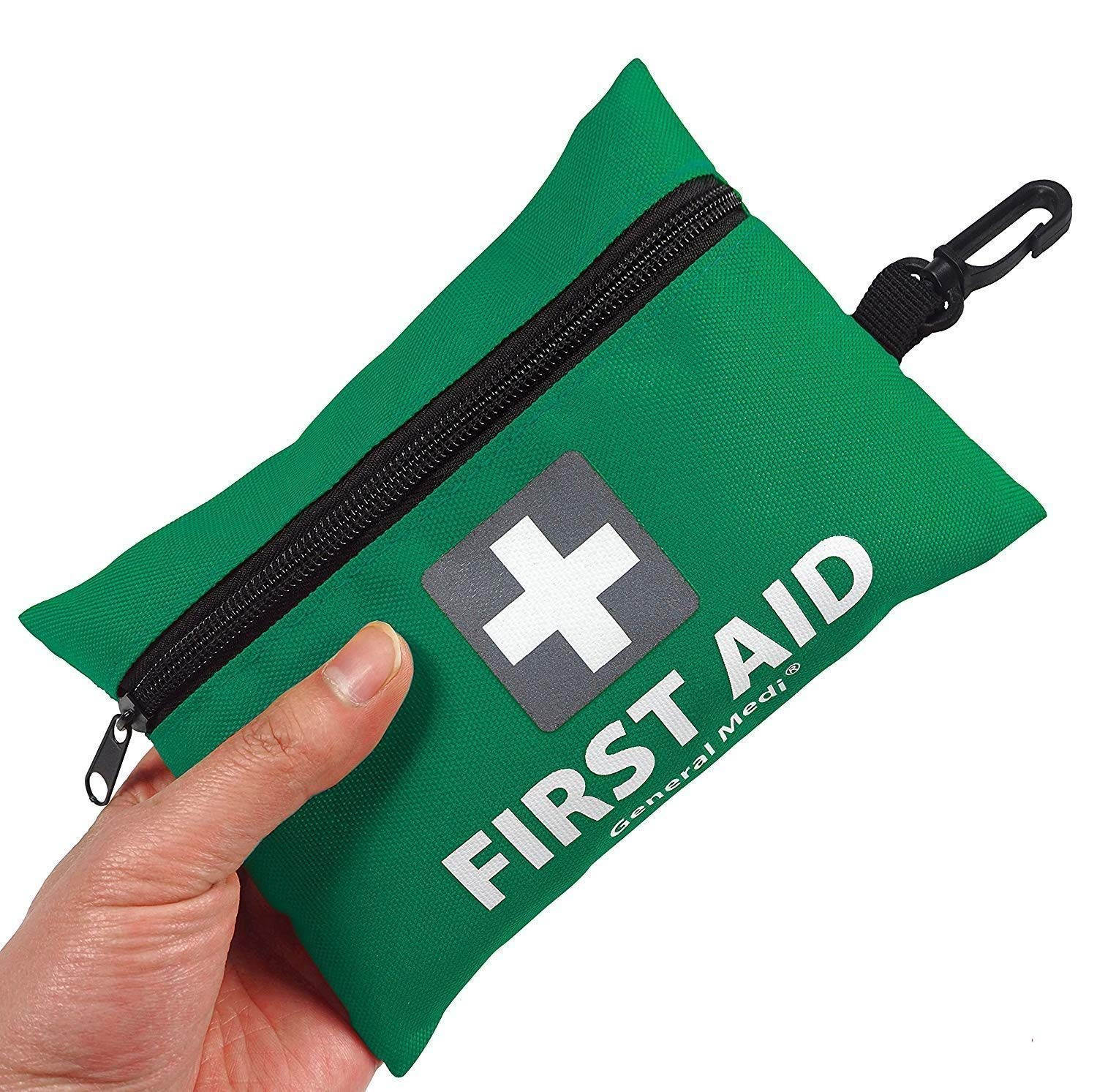Mini First Aid Kit,92 Pieces Small First Aid Kit - Includes Emergency Foil Blanket, CPR Respirator,Scissors for Travel, Home, Office, Vehicle,Camping, Workplace & Outdoor (Green) 2