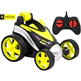 Zest 4 Toyz RC Stunt Vehicle 360°Rotating Rolling Radio Control Electric Race Car, Remote Control Car (Assorted)