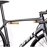 Bike Stix® fiets muursteun van hout - Super hoge kwaliteit fietssteun - Minimalistisch design gemaakt van eikenhout voor race