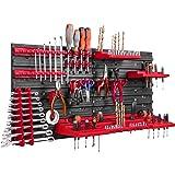 Opslagsysteem, wandrek, 78 x 39 cm, gereedschapshouders, opbergkast, extra sterke wandplaten, uitbreidbaar, werkplaatsrek, op
