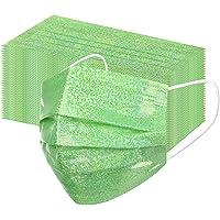 Lulupi 50Stück Einweg Mundschutz Erwachsene Glitzer Mund-Nasenschutz Multifunktionstuch Atmungsaktiv 3 lagig Einmal…