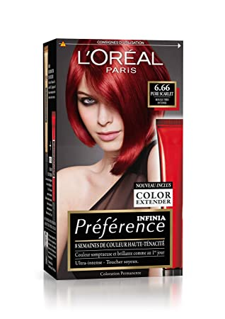 prfrence loral paris coloration permanente 666 rouge trs intense - Coloration Rouge Intense