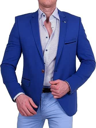Men's Casual Fabric Jacket, Lightweight Fabric Jacket, Slim Fit Blazer, One Button Jacket