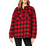 Urban Classics Ladies Flanell Padded Overshirt Giacca Donna