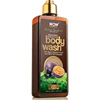 WOW Amazon Rainforest Collection - Volcanic Gold Clay Shower Gel (With Acai, Passion Fruit and Rice Oil Complex) - No Parabens, Sulphate, Silicones and Color, 250 ml