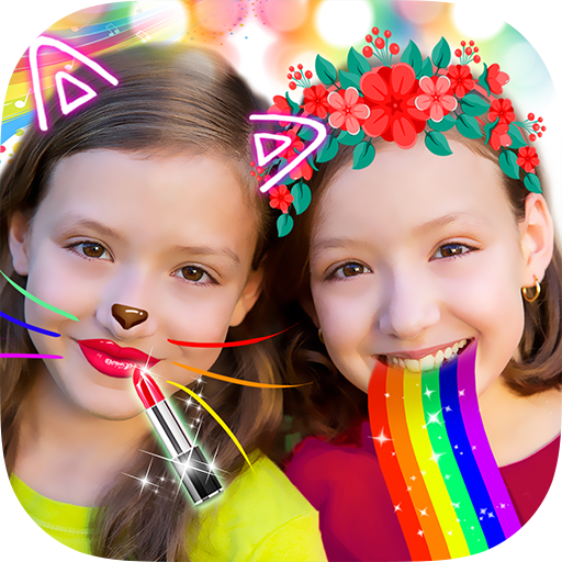 Crazy Rainbow Selfie Lense Camera Girl Makeup Cam - Girl Cami