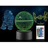 3D-Illusion Star Wars Nachtlicht 16 Farbwechsel-Dekorlampe mit Fernbedienung ATAT Walker perfektes Geschenk f/ür Kinder und Star Wars Fans