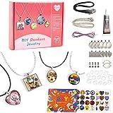 EFO SHM Cadeau Fille 6 à 12 Ans Kit Fabrication de Bijoux Pendentif Bracelet Enfant Cadeau Créatifs Collier DIY Art Crafts po