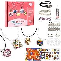 EFO SHM Cadeau Fille 6 à 12 Ans Kit Fabrication de Bijoux Pendentif Bracelet Enfant Cadeau Créatifs Collier DIY Art…