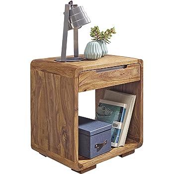 Woodkings Nachttisch Woodville Akazie Rustic Schlafzimmer Massivholz ...