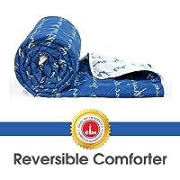 Divine Casa Luxor Microfiber Single Comforter - Sky Blue