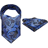 Enlision Cravatta Uomo Floreale Ascot Paisley cravatte Jacquard Formale Classico Elegante e Fazzoletti da Taschino da…