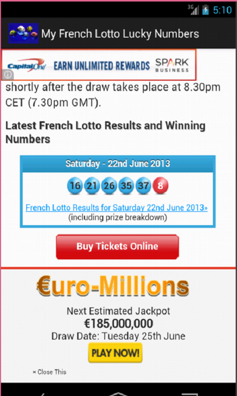 French Loto (Lottery) Lucky Number Generator and Drawing Results