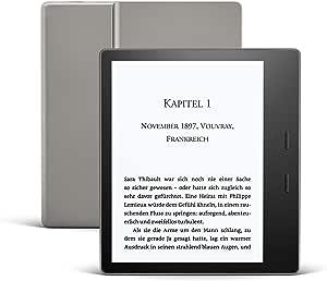 Kindle Oasis Leselicht Mit Verstellbarer Farbtemperatur Wasserfest 32 Gb Wlan Gratis Mobilfunkverbindung Wlan Grafit Kindle Unlimited Amazon Devices
