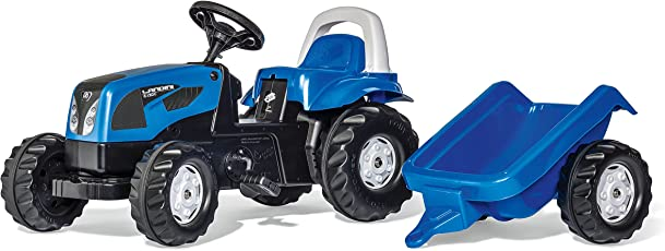 Rolly Toys 011841 Trattore a Pedali Kid Landini Power Farm 100 con Rimorchio