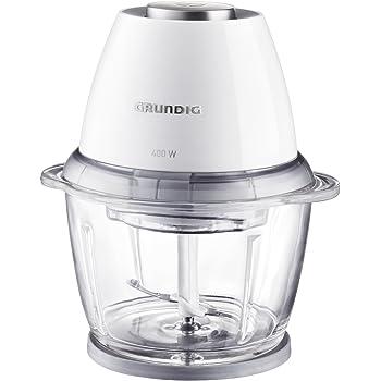 Grundig CH 7280w Multi-Zerkleinerer (Gourmet, 400 Watt, 1 l Glasbehälter), weiß