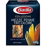 Barilla Mezze Penne Tricolor, 500 g (Pack of 1)