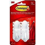Command Designer Medium Plastic Hook(White, 2 hooks and 4 strips) (17081) (17081ES)