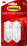 Command Designer Medium Plastic Hook(White, 2 hooks and 4 strips) (17081) (17081ES)