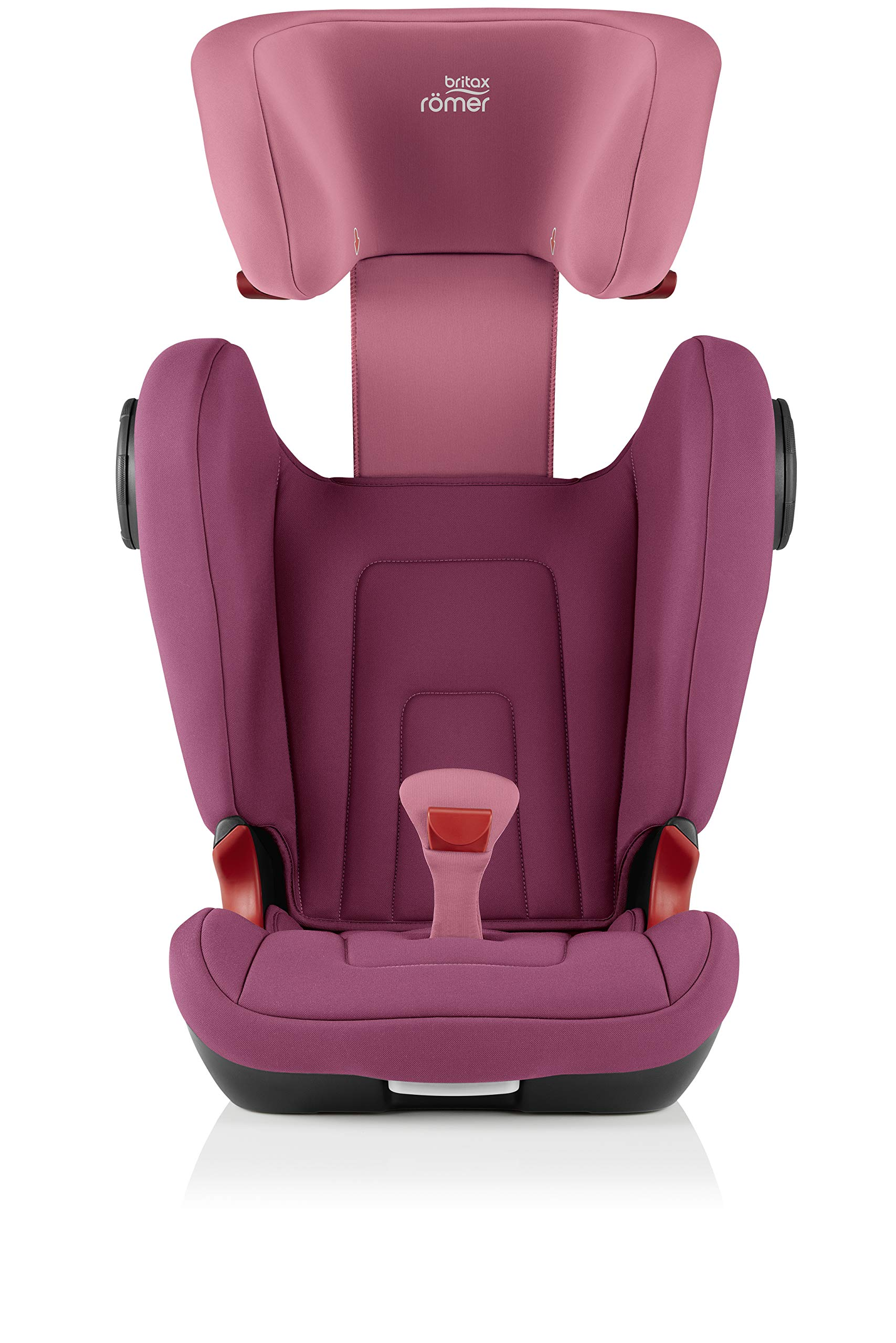 Britax Römer KIDFIX² S Group 2-3 (15-36kg) Car Seat - Wine Rose  Advanced side impact protection - sict offers superior protection to your child in the event of a side collision. reducing impact forces by minimising the distance between the car and the car seat. Secure guard - helps to protect your child's delicate abdominal area by adding an extra - a 4th - contact point to the 3-point seat belt. High back booster - protects your child in 3 ways: provides head to hip protection; belt guides provide correct positioning of the seat belt and the padded headrest provides safety and comfort. 7
