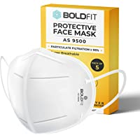 Boldfit N95 mask for face (Pack of 10) Anti Pollution, protective. Third Party Tested by manufacturer at SGS & Ministry of Textiles