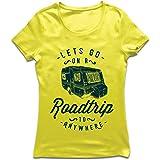 Camiseta Mujer Viaje por Carretera a Cualquier Lugar, Vacaciones Familiares, Amor Camping - Salvaje, Bosque, Vacaciones en la