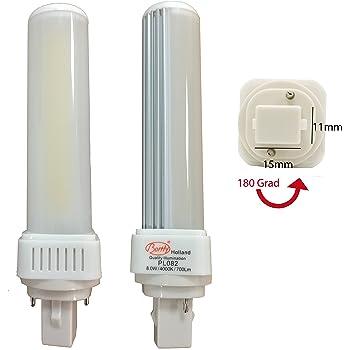 2 x Bombilla LED PL G24 8 W 3000 K/4000 K 640LM de 2