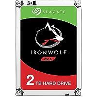 Seagate ST2000VNZ04 IronWolf Interne Festplatte für NAS-Systeme mit 1 - 8 Bay (3,5 Zoll), 2 TB, silberfarben