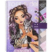 Depesche TopModel 11253 Livre de coloriage spécial Design Book, avec pochoirs, Feuilles à Motifs et Nombreux Accessoires…