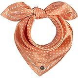 FRAAS Halstuch Damen gepunktet - 53 x 53 cm Größe - Nickituch Seide - Seidentuch für Damen mit Polka Dots Muster - Bandana Tu