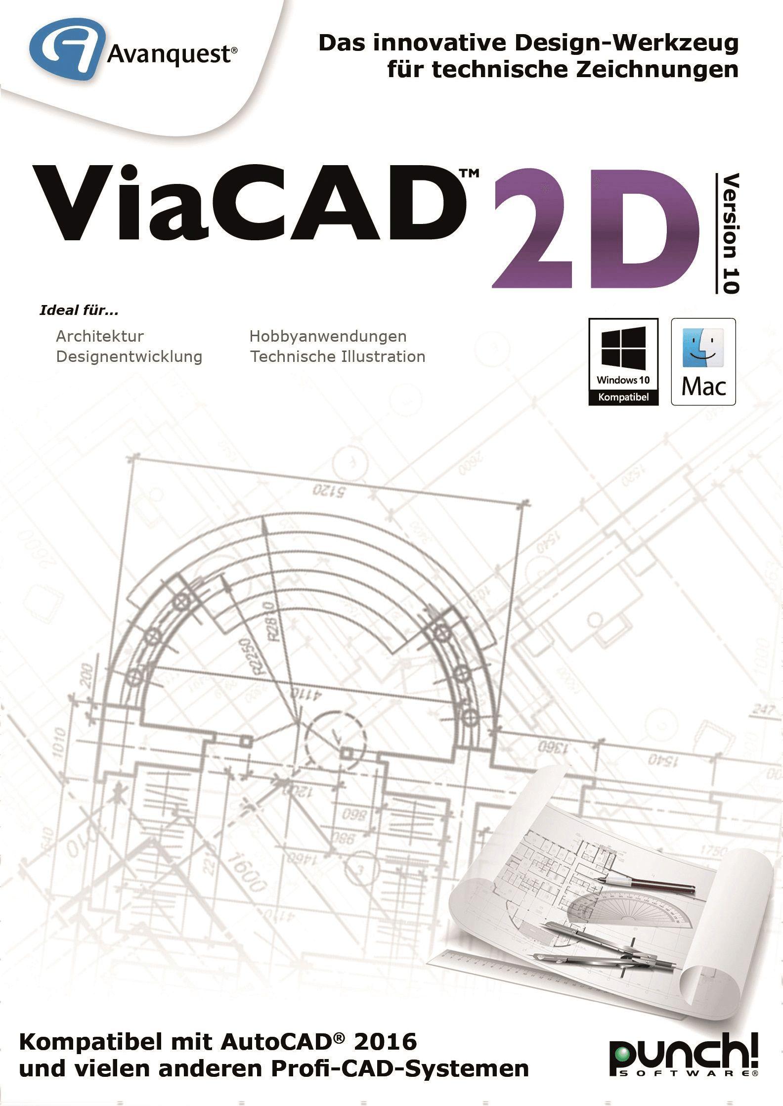 ViaCAD 2D 10 - Das innovative Design-Werkzeug für technische Zeichnungen! Für Windows und Mac! [Download]