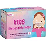 OptiTect 50pcs Designer disposable face mask for kids health protection - breathable 3-Ply protective face mask & Comfortable
