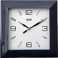 Ajanta Plastic Abstract Wall Clock (172 mm x 172 mm x 35 mm 1847 - Black)