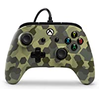 PowerA Wired Officially Licensed Controller for Xbox One, Xbox One S, Xbox One X & Windows 10 - Deep Jungle Camo