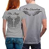 VIVAMAKE - Angel Tshirt - Partner-T-Shirt Damen und Herren – 2 Stück - Couple-Shirt Geschenk Set für Verliebte – Partner-Geschenke – Bestes Geburtstagsgeschenk – Partnerlook