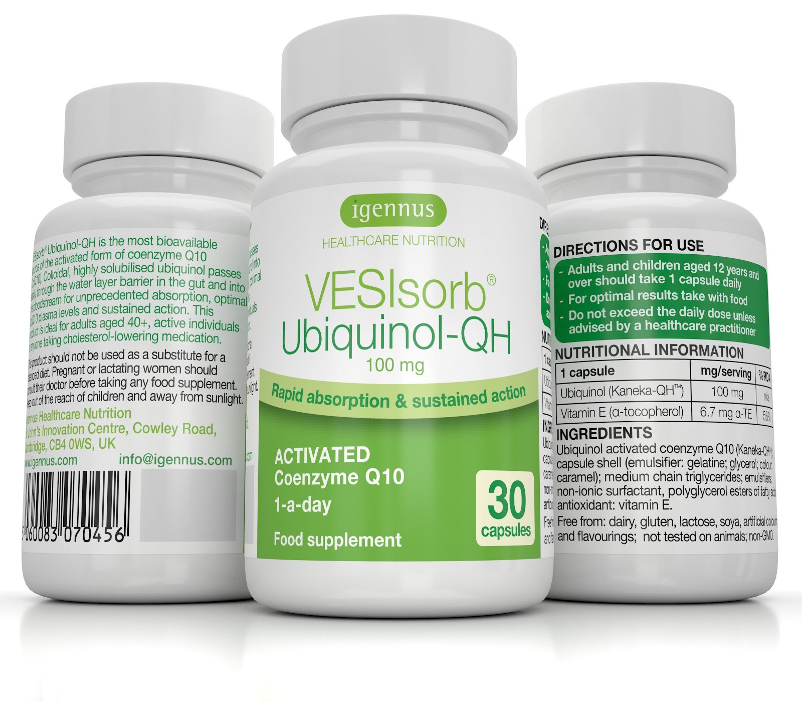 81kA1SbZMmL - VESIsorb Ubiquinol-QH Advanced Fast-Acting Coenzyme Q10-100 mg Water-Soluble Kaneka QH Ubiquinol CoQ10 Supplement Ideal…