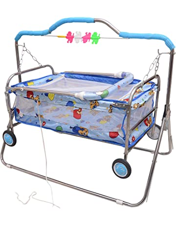 Tender Care India Baby Printed Cradle - Swing Baggi Jhula (Blue)