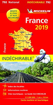 Carte France indéchirable Michelin 2019
