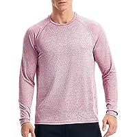 Zengjo Quick Dry Long Sleeve Gym T Shirts Mens Lightweight Running Sports Training Top
