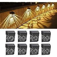 Lunsy - Lot de 8 lampes solaires pour terrasse, escaliers, cour, chemin et allée - Étanches - Automatique - Éclairage…