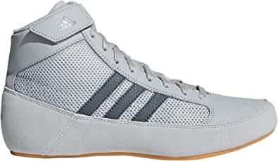 adidas Havoc Kids Junior Wrestling Trainer Shoe Boot Grey