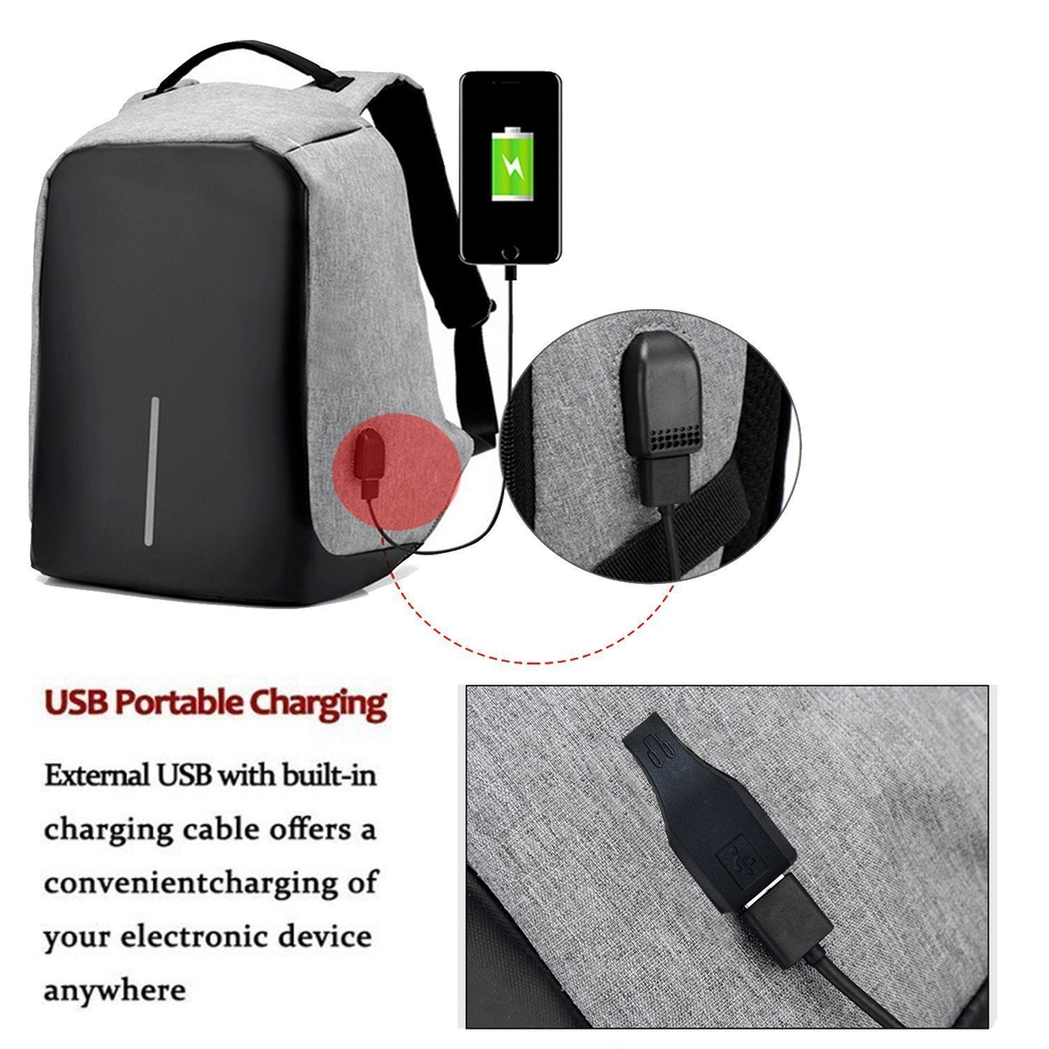 09ae60f9b9 Sale! Home   Bags   Ozoy zofey Business Anti-theft Water Resistant USB  Charging Port Laptop Backpack