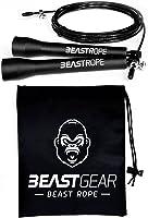 Cuerda para saltar de alta velocidad de Beast Gear. Comba de CrossFit, Boxeo, MMA. Longitud Ajustable y Rodamientos Ligeros, Ideal para Saltos Dobles. ¡Garantía de por vida!