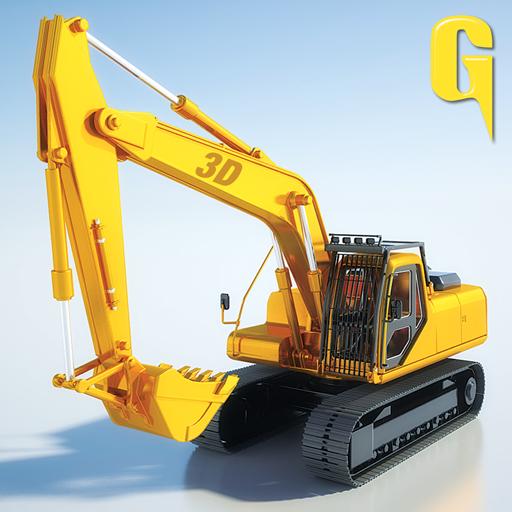 Sand Bagger Traktor 3D - Graben Und Lkw, Dump