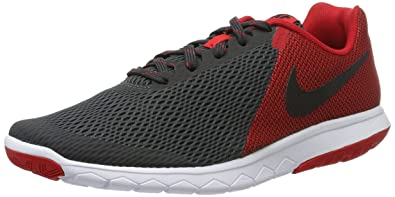 nike running shoes for men black and red. nike men\u0027s flex experience rn 5 anthracite black, university red and white running shoes - for men black