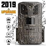 WiMiUS Wildkamera 16MP 1080P mit Bewegungsmelder Infrarot- Nachtsicht IP66 wasserdichte Gehäuse,Wildtierkamera für...