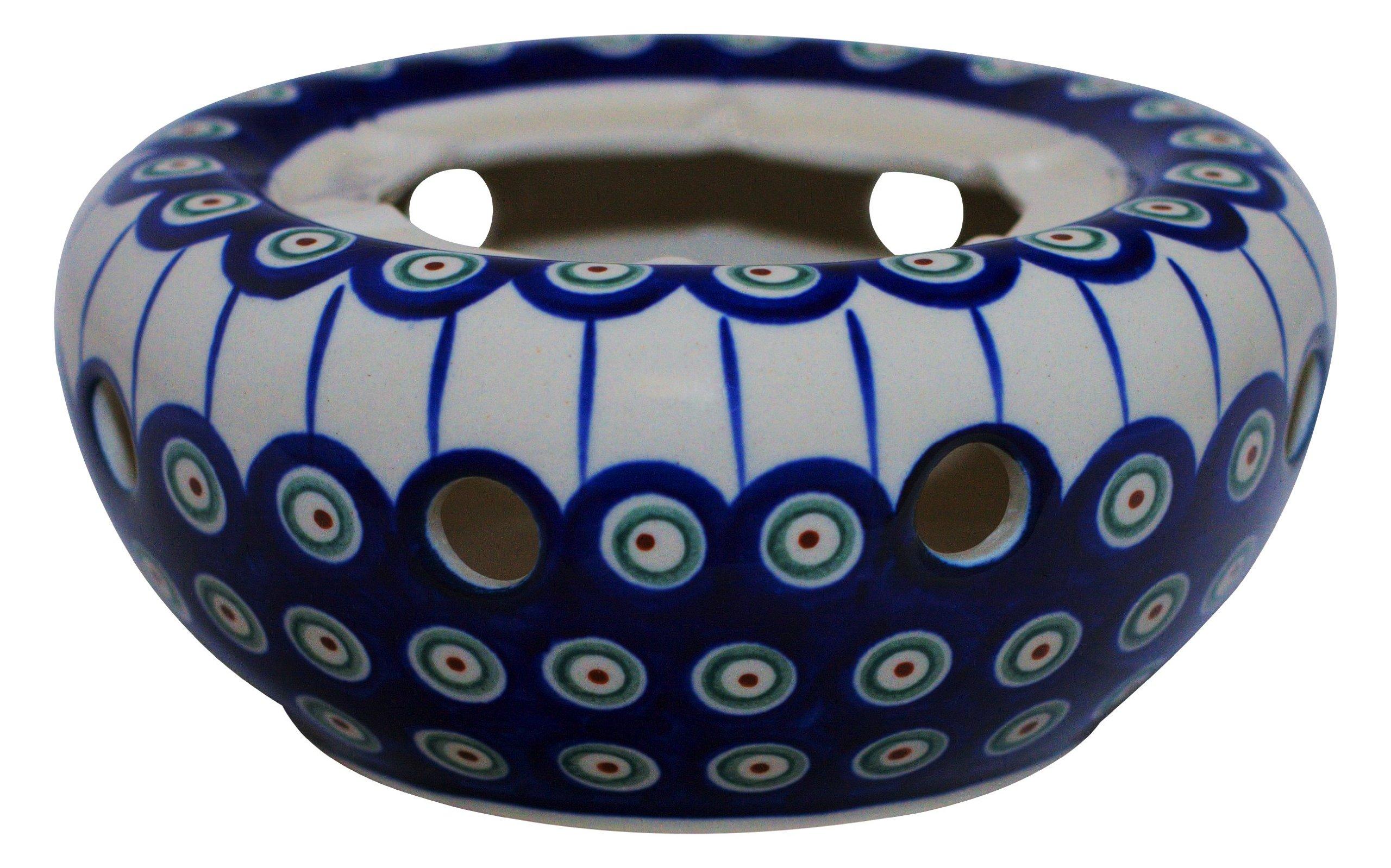 Boleslawiec Pottery Warmer, Original Bunzlauer Keramik, Decor 8